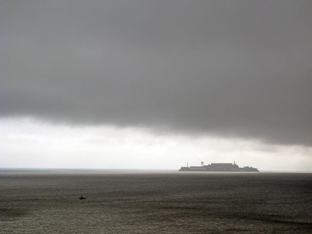 Typepad- Boat on sf bay Alcatraz DARK CLOUDS