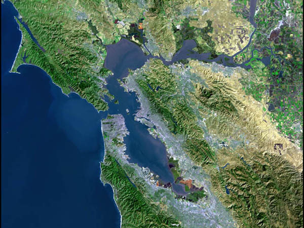Bay Area SAT view