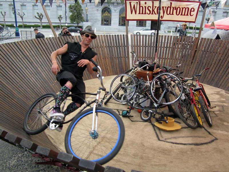 Whiskeydrome bicyclist