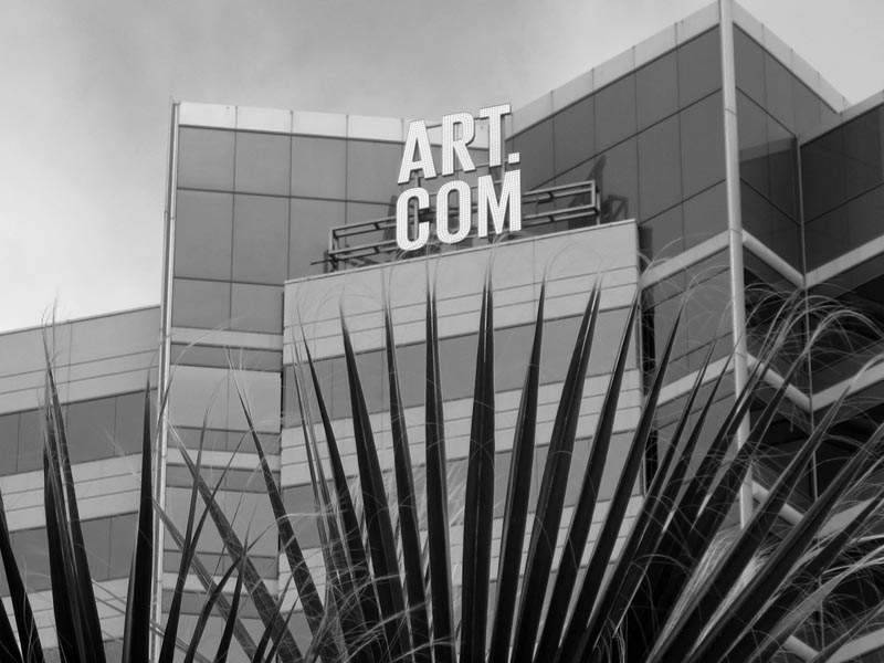 ART.COM sign -bw- photo by Max Clarke