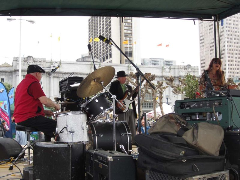 Drummer Dave Getz at Earth Day 2012 show Big Brother