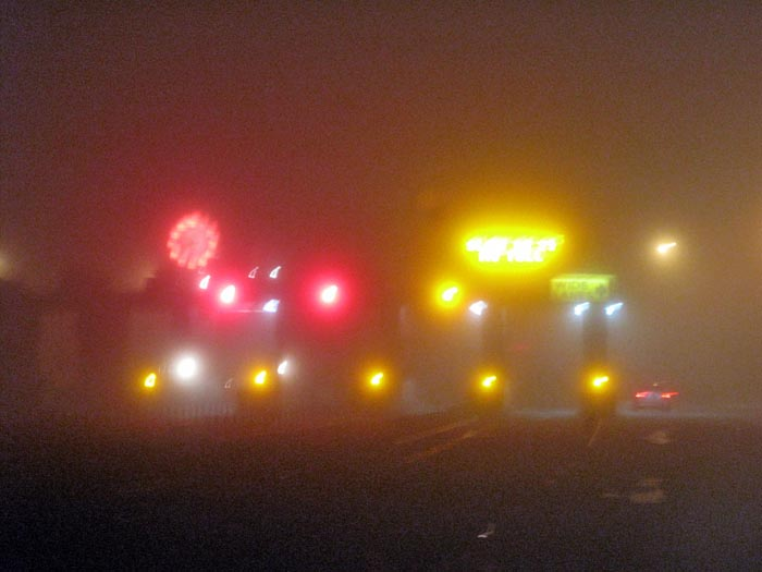 Fog at Golden Gate Bridge Toll Plaza - Max Clarke