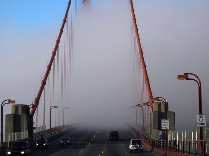 Clearing Fog Golden Gate Bridge - Max Clarke