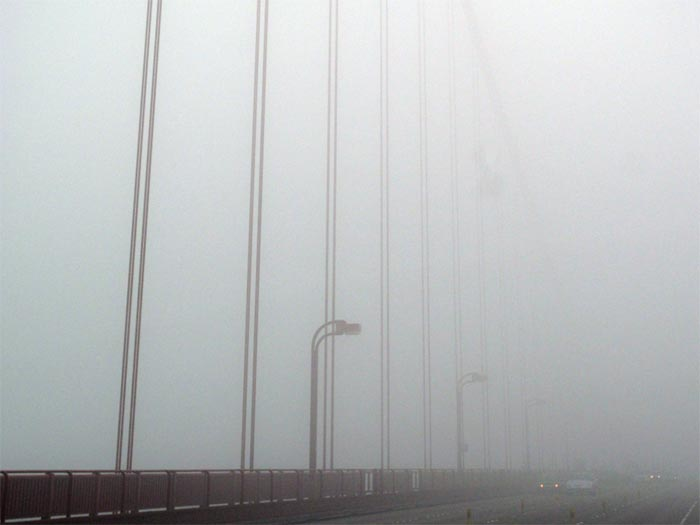 Fog On Deck Golden Gate Bridge - max clarke