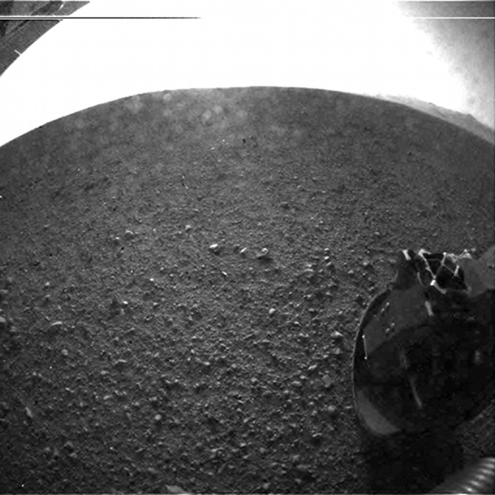 Curiosity first photo on Mars - photo by NASA
