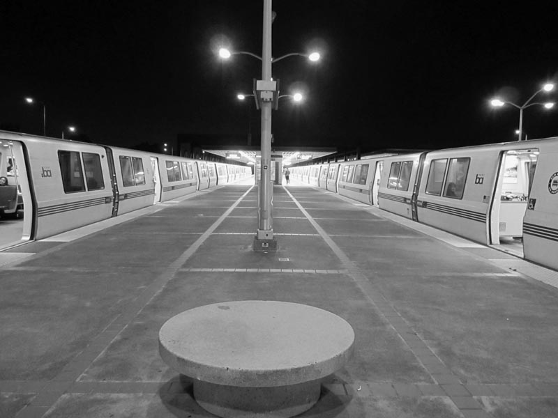 Bart station -bw- photo by Max Clarke
