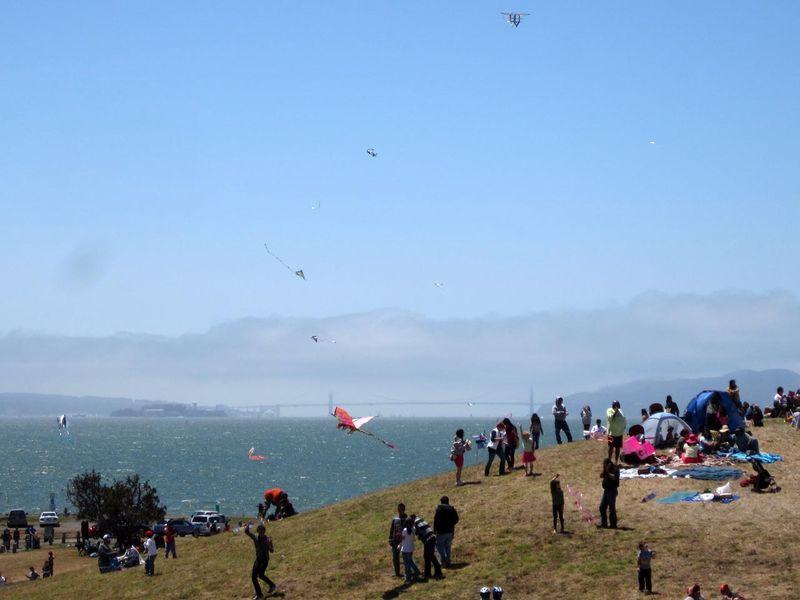 Golden Gate Bridge from kite festival - photo by max clarke
