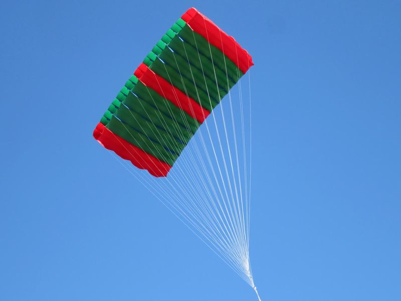 Green kite - photo by max clarke