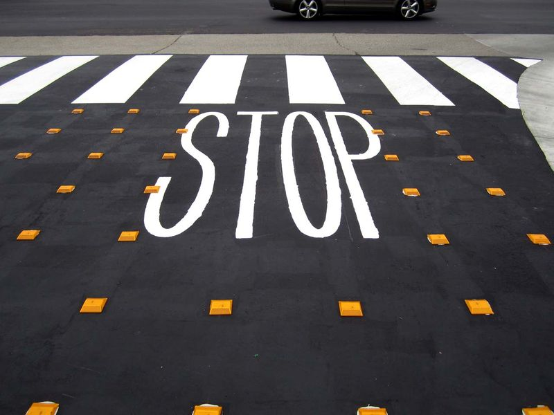 New Painted Stop Sign - photo by Max Clarke