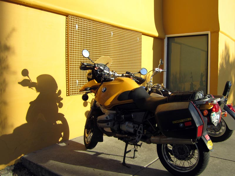 Yellow motorcycle - photo by max clarke