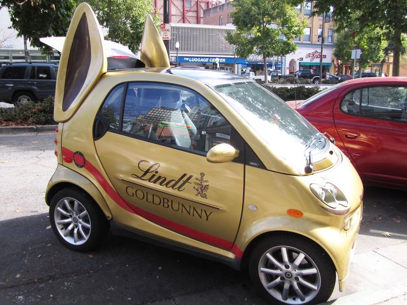 Lindt Chocolate Bunny Car - photo by Max Clarke