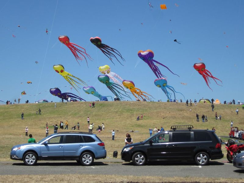 Kites And Cars - photo by Max Clarke