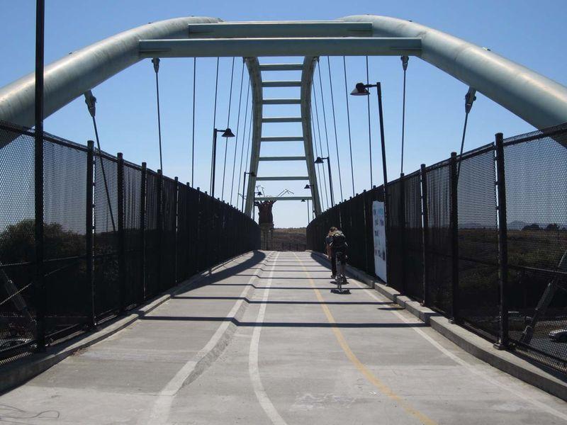 Bike bridge - photo by max clarke