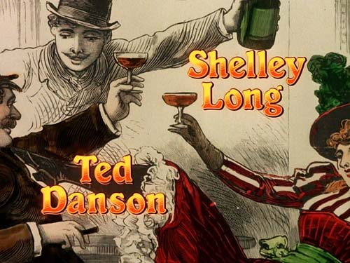 Credits for Shelley Long and Ted Danson small