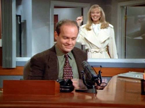 Diane Knocks On Frasier's Booth Window