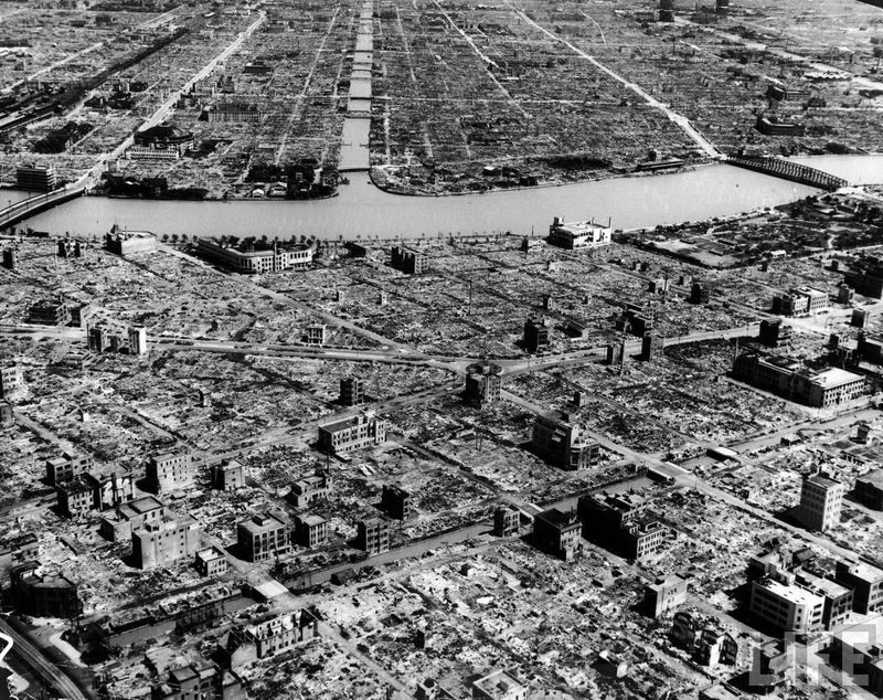 Hiroshima after bomb blast