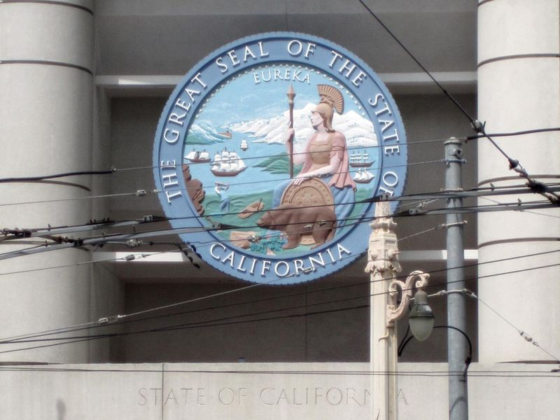 Great Seal of California © photo by Max Clarke