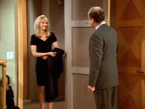 Diane Chambers arrives for dinner - small