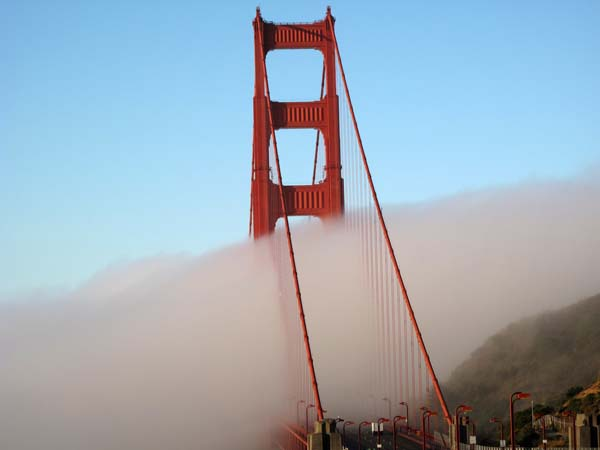 Fog Golden Gate Bridge © photo by Max Clarke
