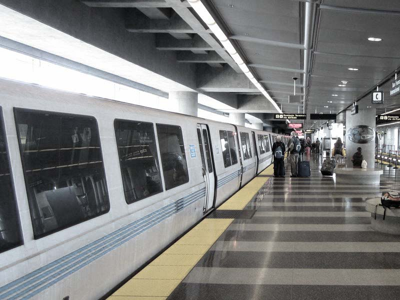 BART station SFO - photo by Max Clarke
