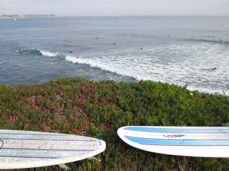 Surfboards Over Steamer Lane - photo by Max Clarke