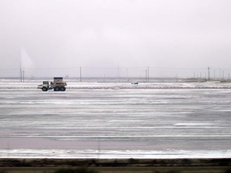 Truck On Salt Pond - photo by Max Clarke