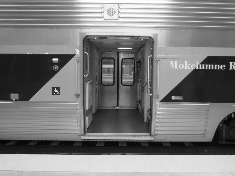 Amtrak Railroad Car -black and white-  photo by Max Clarke