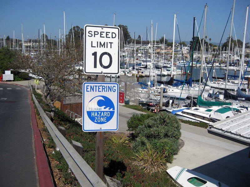 Tsunami Sign - photo by Max Clarke