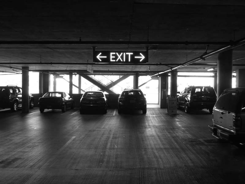 Exit Sign © photo by Max Clarke
