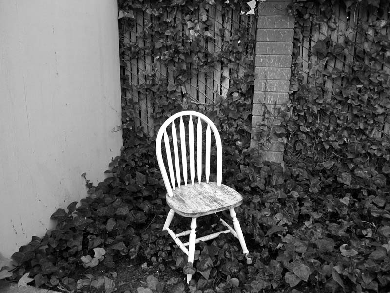White Chair © photo by Max Clarke