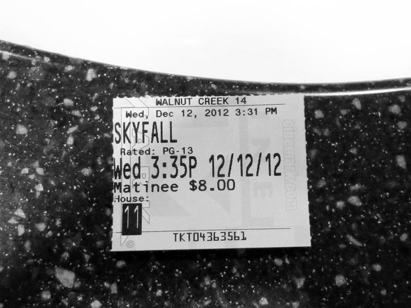 Movie Ticket - Skyfall - photo by Max Clarke