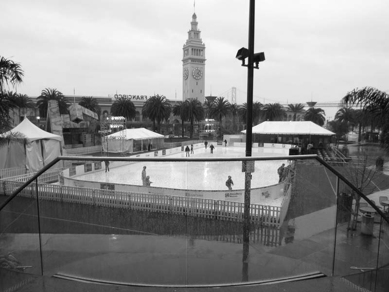San Francisco Skating Rink -BW- photo by Max Clarke
