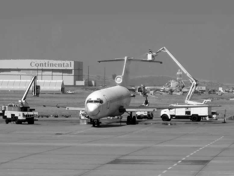 Airplane Washing -bw- photo by Max Clarke