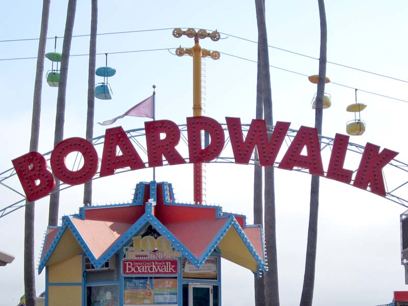 Santa Cruz Boardwalk Sign - photo by Max Clarke