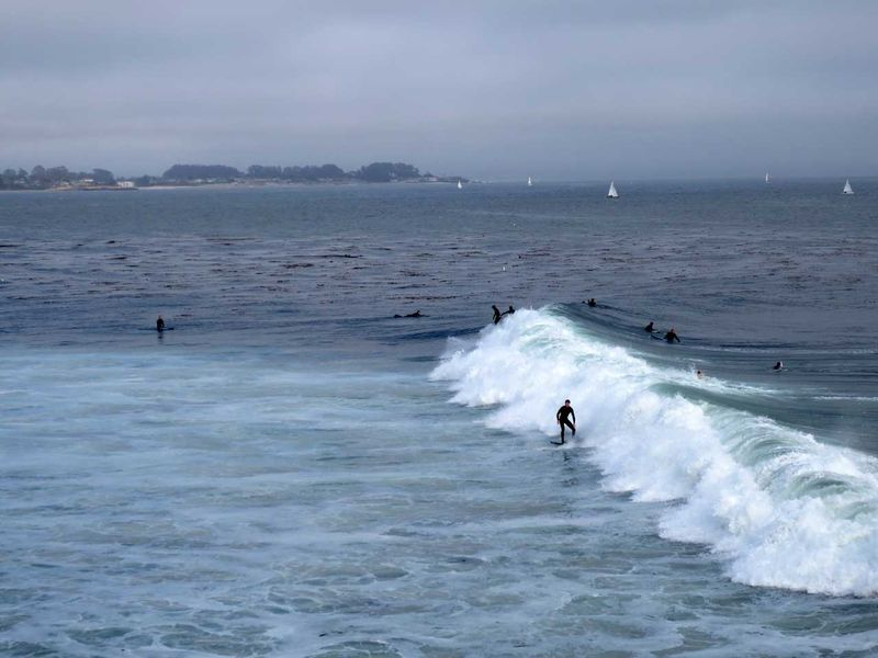 Surfers at Steamer Lane - photo by Max Clarke