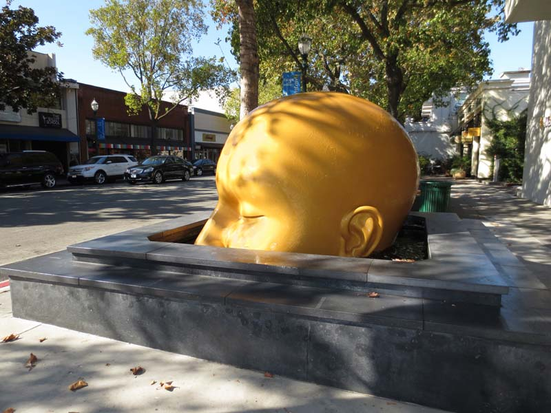 Fountainhead Sculpture Returned - photo by Max Clarke