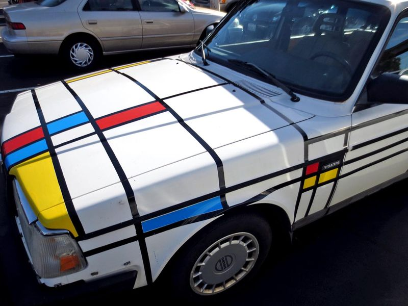 Mondrian Car Front - photo by Max Clarke