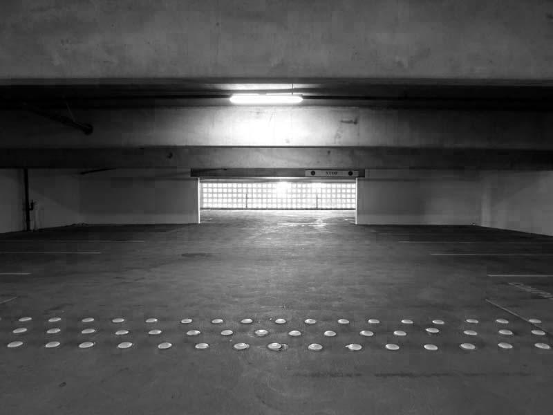 Empty Garage -BW- photo by Max Clarke