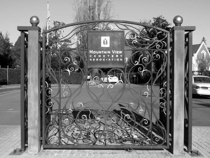 Cemetery Entrance -©- photo by Max Clarke