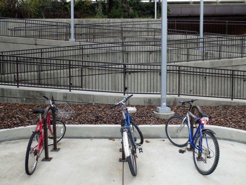 One 24jan13thur-8536- three bicycles ramp rails LAFF Bart