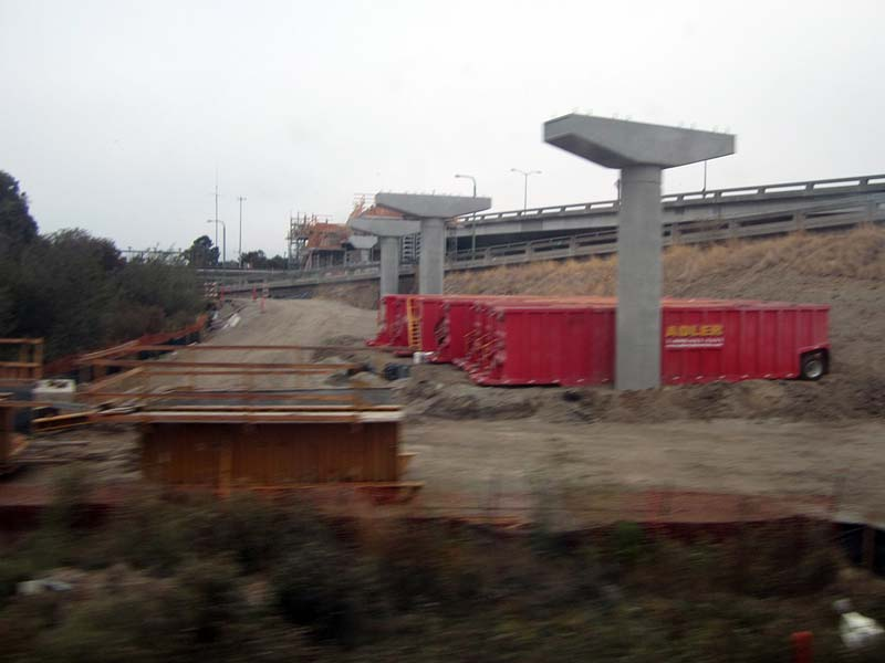 Construction for BART extension to Oakland airport - photo by Max Clarke