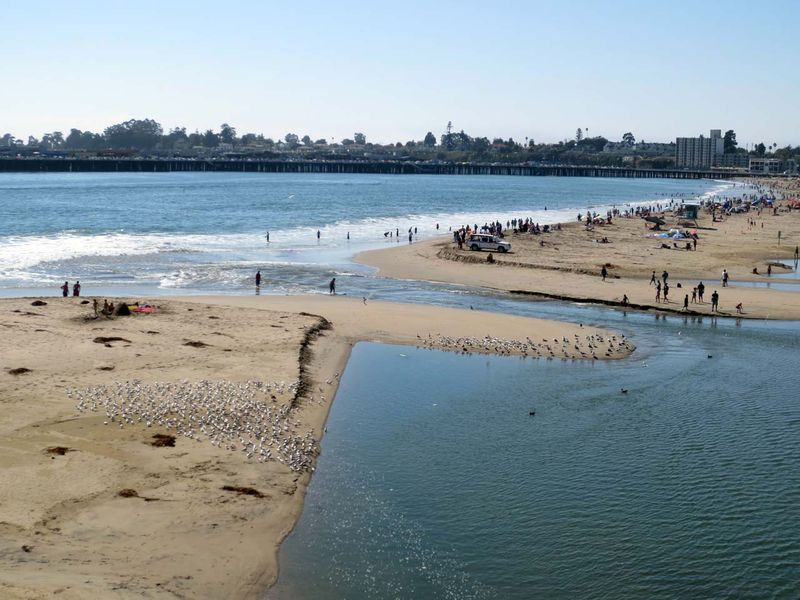 Beach and San Lorenzo River - photo by Max Clarke