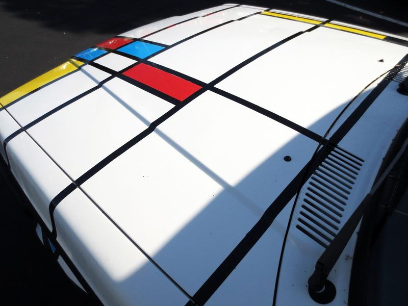 Mondrian Car Hood - photo by Max Clarke