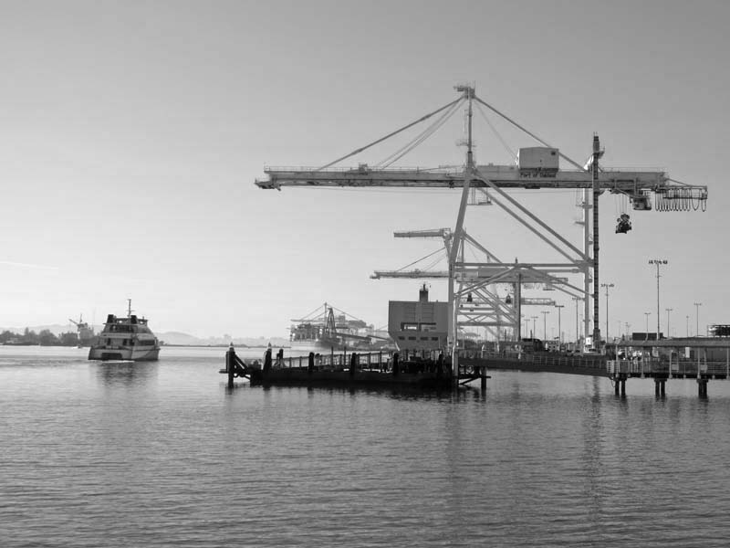 Ferry Leaves For San Francisco -BW- photo by Max Clarke