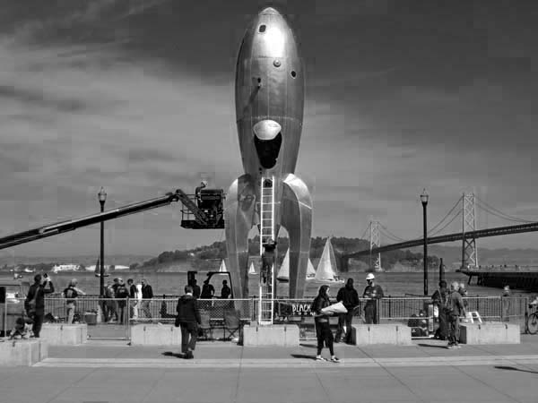 Raygun Gothic Retro Rocketship-©photo by Max Clarke