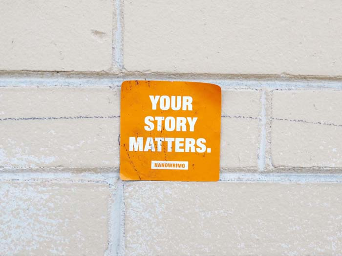 Sticker for National Novel Writing Month-©-photo by Max Clarke