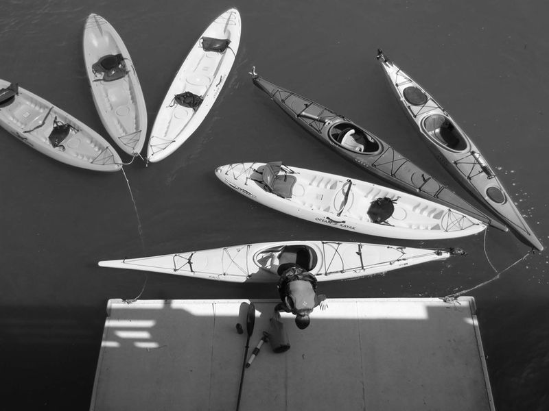 Kayaks -©- photo by Max Clarke