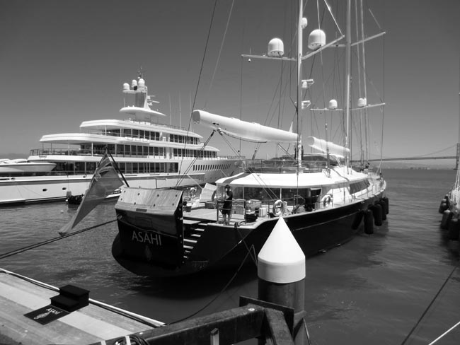 Superyacht Asahi -©- photo by Max Clarke