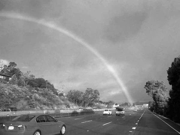 Rainbow on the Road-©-photo by Max Clarke