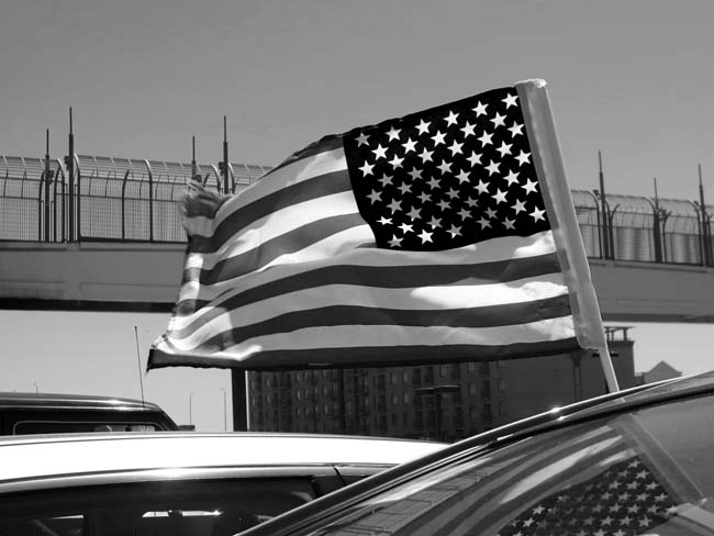 US Flag © photo by Max Clarke